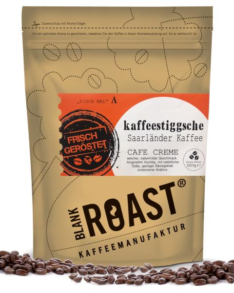 """""""Kaffeestiggsche"""" Cafe Creme Saarländer Röstung"""