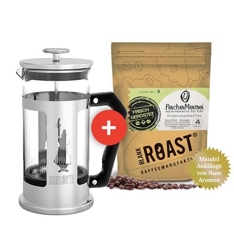Kaffee 'Stempelkanne mit Pacha Mama Bio, Fair und Sozial gehandelt' BLANK ROAST