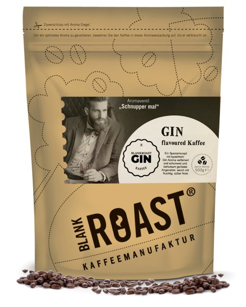 """Gin"" Fass Kaffee als flavoured Cafe Creme"