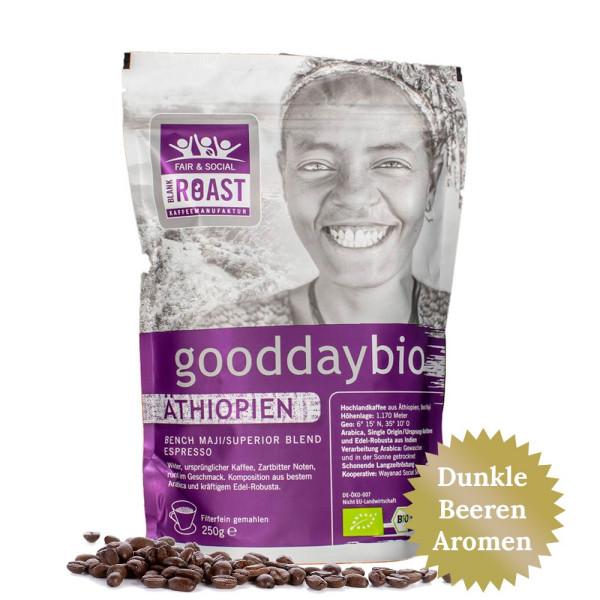 """gooddaybio Äthiopien"" Espresso Fair & Social Kaffee"