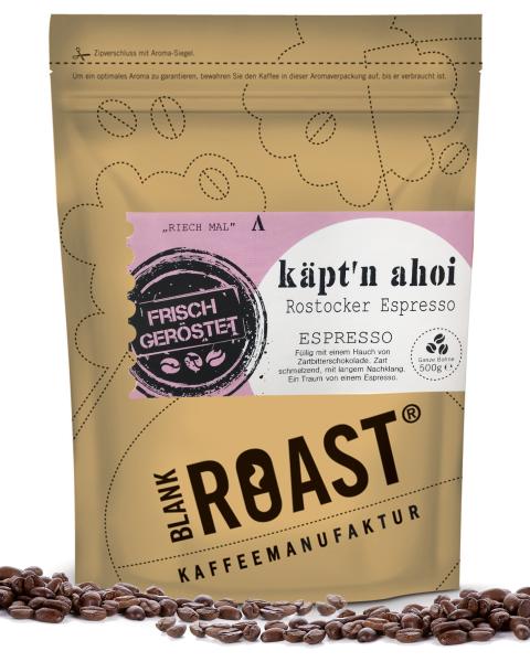 Regionalkaffee | Käpt'n ahoi | Espresso | Rostocker Röstung | Kaffee