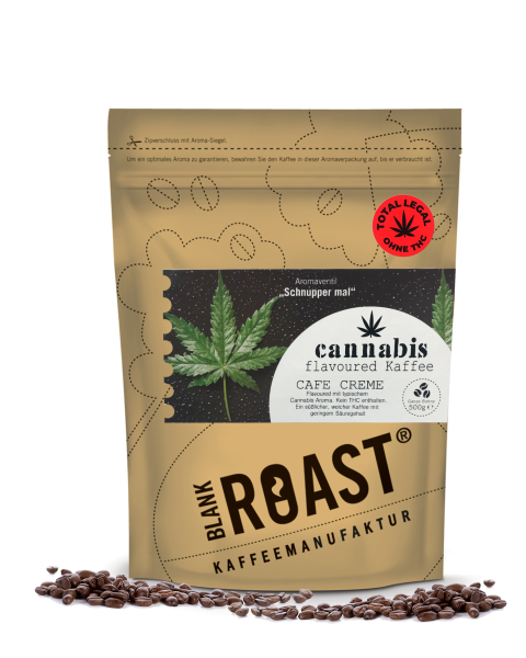 """Cannabis"" Cafe Creme Flavoured Kaffee"