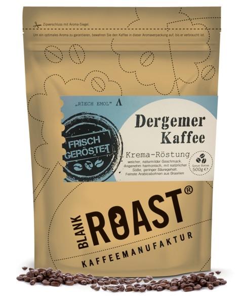 """Dergemer Kaffee"" Krema Röstung Regional"