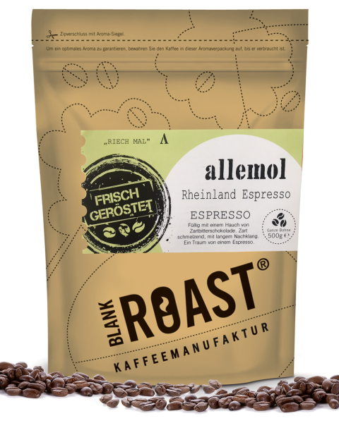 """Allemol"" Espresso Rheinland Röstung"