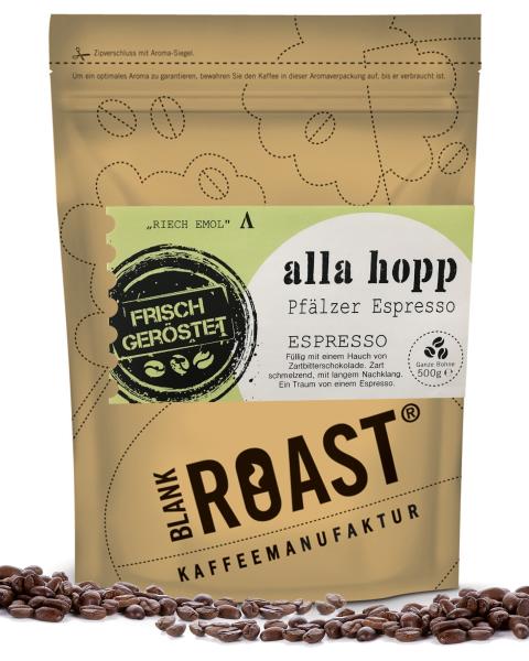 Regionalkaffee | Alla hopp | Espresso | Pfälzer Röstung | Kaffee